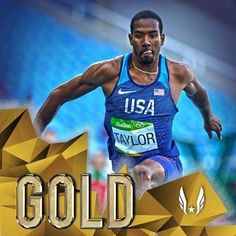 Christian Taylor took GOLD in the Triple Threat.