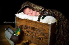 #Newbornphotography #newborn #hunting theme baby #Tracygrantphotography