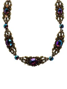 Double Loop Crystal Stardust Necklace in Tapestry by Sorrelli - $195.00 (http://www.sorrelli.com/products/NCJ8AGTAP)