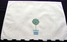 Vintage Marghab Linen & Embroidered Towel by chalcroft on Etsy, $25.00