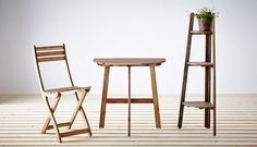 ASKHOLMEN outdoor furniture made from durable hardwood