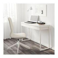 BESTÅ BURS Desk, high gloss white high gloss white 47 1/4x15 3/4
