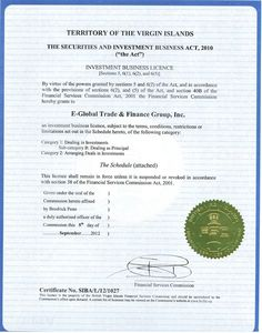 bvi financial service license for money and fx businesses