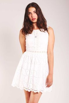 Valley Of The Dolls White Rocks Sleeveless Dress – Fox + Feather