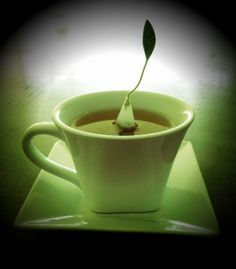 a teabag that sits on its own. Tea Time, Coffee, Tableware, Kaffee, Dinnerware, Tablewares, Cup Of Coffee, Dishes, Place Settings
