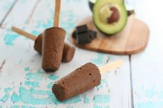 These rich low carb Chocolate Avocado Pudding Pops are super heathy and appeal to both kids and adults!