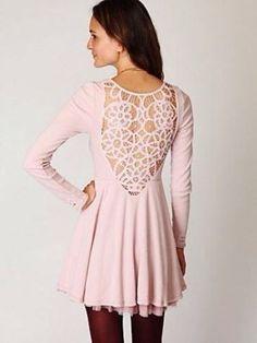 Free People Anthropologie battenburg lace dress washed pink XS
