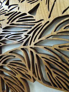 Laser cut wood panel