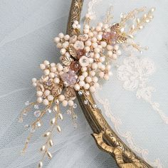 Astrid Headpiece  An opulent versatile hair vine encrusted with Swarovski crystals and pearls, Czech pearls beads with little tiny leaf accents. Set on a strong, flexible wire base which can easily be shaped to suit your chosen hair style.  Handmade bridal hair accessories from Donna Crain. See the entire collection at www.donnacrain.com or come and visit me in person. I offer a bespoke service too so do get in touch if you are looking for something different. X