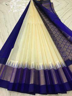 Saree Kanjivaram Sarees, Kanchipuram Saree, Soft Silk Sarees, Cotton Saree, Indian Dresses, Indian Outfits, Saree Color Combinations, Saree Dress, Sari