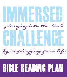 Are you having trouble getting into the Word? Consider the Immersed Bible Reading Plan and simple challenge!