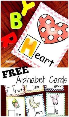 FREE Letter Sounds Alphabet Cards - These are such a fun, hands on educational activity to help kids identify the alphabet letter that goes with the beginning letter sounds. Perfect for preschool, prek, kindergarten to get ready to read. Preschool Literacy, Preschool Letters, Phonics Activities, Learning Letters, Kindergarten Activities, Educational Activities, Learning Phonics, Kindergarten Age, Beginning Sounds Kindergarten