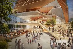 Image 8 of 8 from gallery of Efforts for Gehry-Led Wimbledon Concert Venue in Wimbledon Gain Ground Weeks after London Centre for Music Announcement. Diller Scofidio + Renfro's designs for the London Centre for Music. ImageCourtesy of DS+R City Of London, New London, Architecture Design, Linear Park, London Square, London Symphony Orchestra, Renzo Piano, London Museums, Barbican