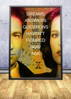 """X Files Quote Poster by pahleeloola. Use the coupon code, """"PIN10"""" for 10% off on your entire purchase! Click to buy and print!"""