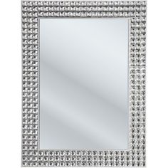 This glamourous and glittering mirror with charming crystal elements is a sparkling eye-catcher in any ambience.