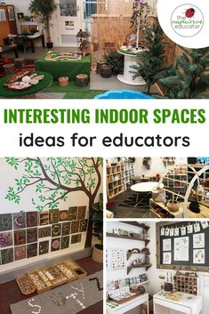 How to set up interesting indoor learning environments for children. Reggio Emilia Classroom, Reggio Inspired Classrooms, Environment Day, Classroom Environment, Physical Environment, Classroom Setting, Classroom Decor, Montessori Classroom Layout, Classroom Tree