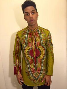dashiki by Christian Alaro African Attire For Men, African Print Fashion, Africa Fashion, African Wear, African Dress, African Suits, African Inspired Clothing, Afro Men, Androgynous Fashion