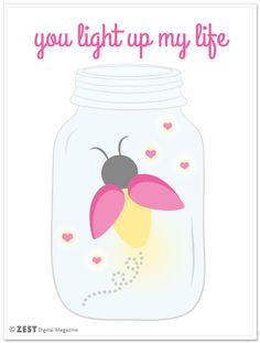 You Light Up My Life Free Valentine's Day Printable
