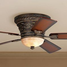 """52"""" Casa Vieja Ancestry™ Hugger Ceiling Fan - bought this one for the den"""
