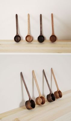 New arrivals: Coffee Scoops - Walnut and Cherry by Mitsugu Morita