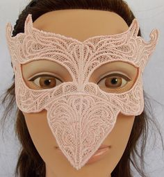 Pink flamingo embroidered lace raven bird mask by urbaniqueboutique on Etsy https://www.etsy.com/listing/200266815/pink-flamingo-embroidered-lace-raven