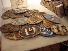 ∷ Variations on a Theme ∷ Collection of antique number plates