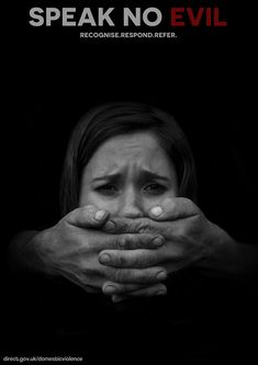 """Domestic Violence Awareness Campaign: """"Hear No Evil, See No Evil & Speak No Evil"""" - https://www.gov.uk/report-domestic-abuse  Feminicide, Woman Rights, Women Rights, Stop Violence Against Women, Domestic Violence, Child Abuse, Child Rights, Derechos Del Niño, Help Spread This, Lost Childhood, Lost Adolescence"""