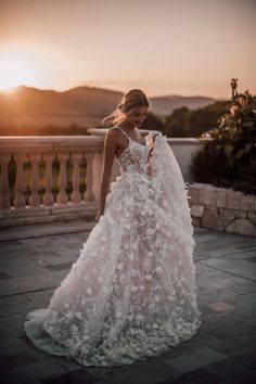All you need is a beautiful sunset and a Galia Lahav couture wedding gown. The, All you need is a beautiful sunset and a Galia Lahav couture wedding gown. The All you need is a beautiful sunset and a Galia Lahav couture wedding go. Couture Wedding Gowns, Wedding Dress Trends, Dream Wedding Dresses, Bridal Dresses, Prom Dresses, Tulle Wedding, Boho Wedding, Sunset Wedding, Modest Wedding