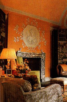 Haseley House Gothic Bedroom. Interior Design John Fowler and Nancy Lancaster