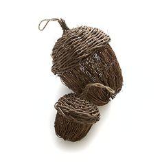 Woven Acorns I Crate and Barrel