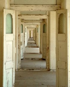 An seemingly endless row of  doors with like ~character.  I just want to stroll through it admiringly! #doors