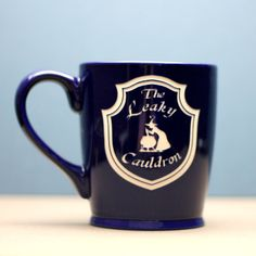 FREE SHIPPING Personalized leaky Cauldron Harry Potter inspired coffee mug  ::: PERSONALIZATION INFO::: You can personalize words that will go on the opposite side of the mug if you choose that option. Please see second image for font options and use the Notes to Seller part of check out to let us know the wording you want to use and the font. Please keep wording short and not a paragraph. Handle on mug will be facing left with art facing out unless otherwise stated in the notes. Meaning if…