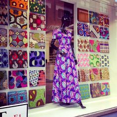 Tribal African batik fabrics, Petticoat Lane, London
