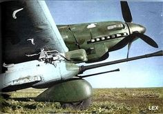 *German Tank Killer, during WW II.* 30 mm Cannons Gun pods under both wing especially for Russian tanks. Ww2 Aircraft, Fighter Aircraft, Military Aircraft, Luftwaffe, Air Fighter, Fighter Jets, Ww2 Photos, Ww2 Planes, Nose Art