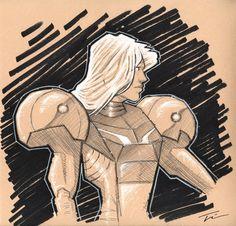 Samus Aran Sketch by TWKeller