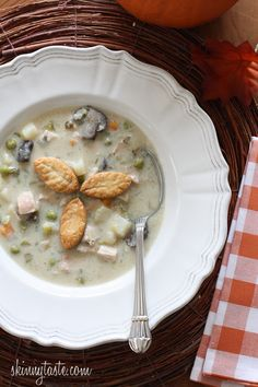 Turkey Pot Pie Soup #weightwatchers