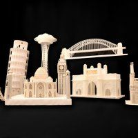 Over 4000 Empty Pen Refills Went into These Miniature Landmarks