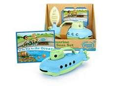 Safe Seas Submarine Set by Green Toys   Buy at Cow and Lizard