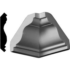 Ekena Millwork 2 in. x 2 in. x 2 in. Polyurethane Crown Inside Corner Moulding-MIC02X02LY - The Home Depot