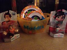 Nephews basket ( not completely done but outside is )