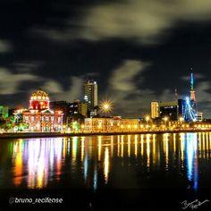 Como não desejar uma boa noite com uma foto dessa do Recife - Pernambuco - Brasil.