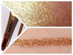 TARTE COSMETICS Tarteist clay paint Liner Review Swatches | COSMELISTA #tartecosmetics #gold #eyeliner #crueltyfree