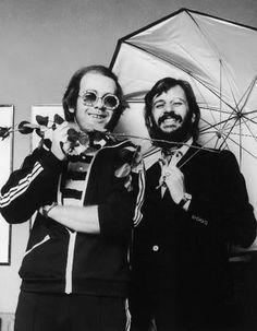 Elton John with Ringo Starr