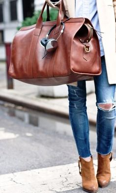 Leather weekend bag. Need one that could be used by male or female.