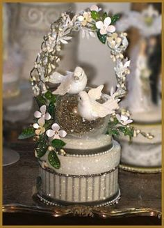 White Dove Wedding Cake Topper Keepsake by PatriciaMinishDesign - http://www.etsy.com/listing/93057367/white-dove-wedding-cake-topper-keepsake