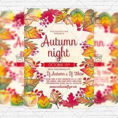 Autumn Night - Premium Flyer Template + Instagram Size Flyer https://www.exclusiveflyer.net/product/autumn-night-premium-flyer-template-instagram-size-flyer-2/
