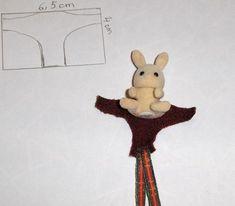 vêtements pour Sylvanian (explications, patrons, tutoriels ) nouveautés avec tuto.: charlotte pour lapine p61, châle en tissu p63, coussin de chaise page 64, chapeaux masculins p 65, casquette p66 - Page 42