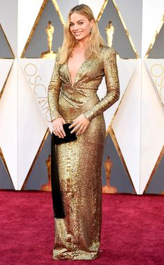 The Best Oscars Gowns of 2016 | People - Margot Robbie in Tom Ford