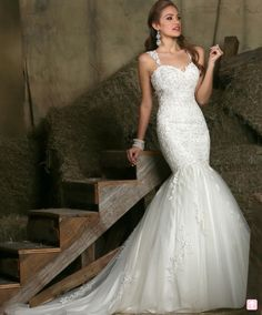 DaVinci Wedding Dress 50330 Ivory, White