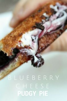 Blueberry Cheese Pudgy Pies. Great camping recipe!